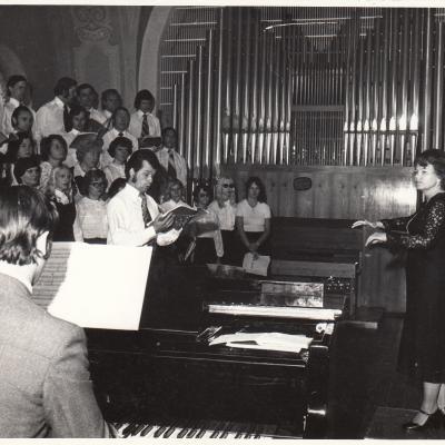 1978 m. Klaipėda. Valstyb. Konservatorijos Klaipėdos fakulteto choro dirigavimo specialybės valstybinio egzamino koncertas
