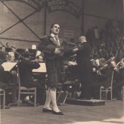 "Figaro, G. Rossini ""Sevilijos kirpėjas"", diriguoja J. Tallat-Kelpša"