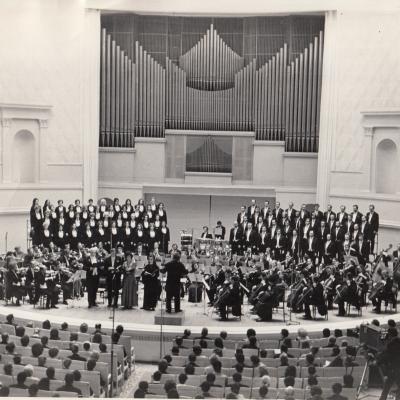 Koncertas Maskvoje P. Tchaikovskio salėje. Verdi Requiem. 1973 10 12-17