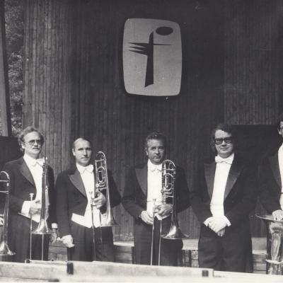 Palangoje 1981 m. Trombonų grupė su J. Domarku