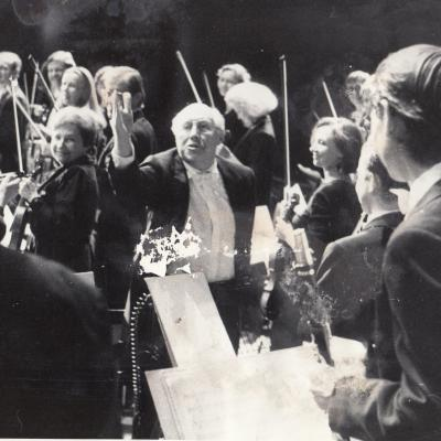 Su M. Rostropovičiumi Lisabonoje 1995 m.