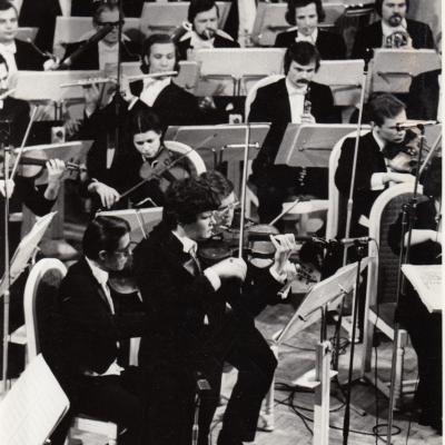 Su smuikininku E. Stadleriu 1982 m.