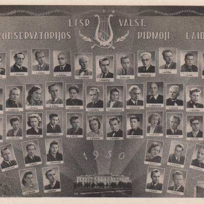 Valstybinės konservatorijos I-oji laida. 1950 m.