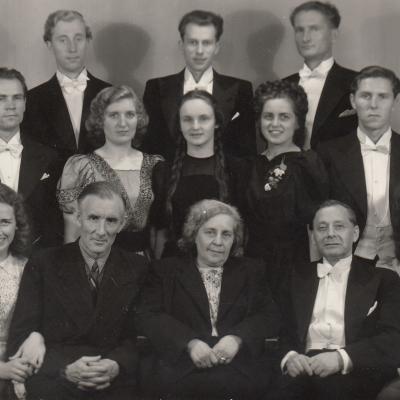 Operos studija. Opera Eugenijus Oneginas. Adomavičienė - Tatjana, Rudaitis, Gontytė, Norkus, Šmitas. 1949 06 23