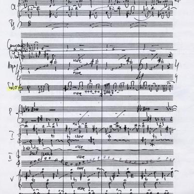 A. Malcio Koncerto violončelei I d. manuskriptas