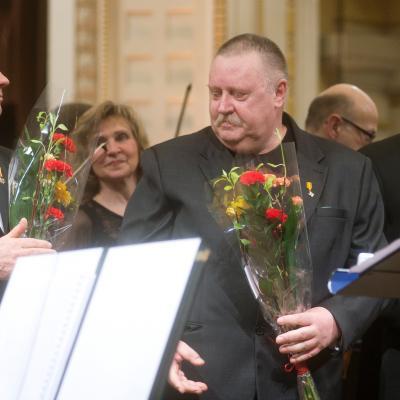 2014-02-16, Vasario 16 minėjimas, Petras Bingelis, Vidmantas Bartulis, Tadas Girininkas; LNF archyvas, foto D.Matvejevas