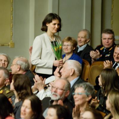 2014-03-29, Gražinytė, Žlabys, kompozitorė Raminta Šerkšnytė,LNSO, foto Dmitrijus Matvejevas