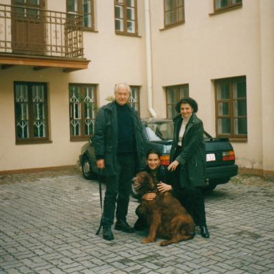 Su vyru Vincentu Kupriu ir dukra Eugenija