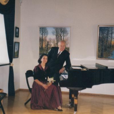 Koncertas Kėdainių muziejuje su vyru Vincentu Kupriu