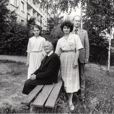 Su mama Jadvyga Kupriene. A. Žižiūno nuotrauka