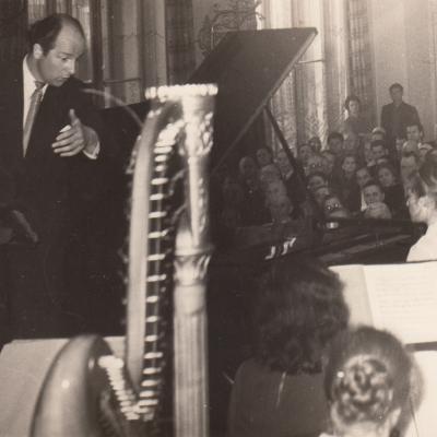 Skambina F. Liszto koncertą. 1962 m.