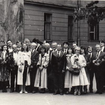 Diplomantai Konservatorijoje 1991 m.