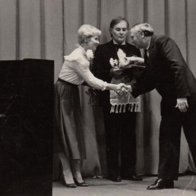 Su D. Sadausku 1984 m. Revoliucijos muziejuje
