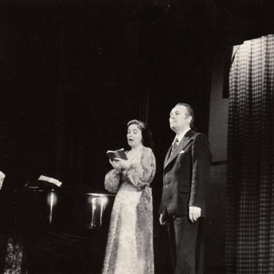 1978 m. Varėnoje su D. Sadausku ir I. Argustiene