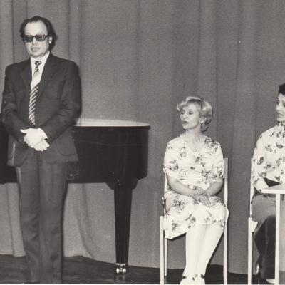 Su Vainilaičiu ir Bajoryte 1986 m. Respublikinėje bibliotekoje
