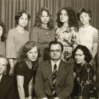 Su studentais 1979 m.