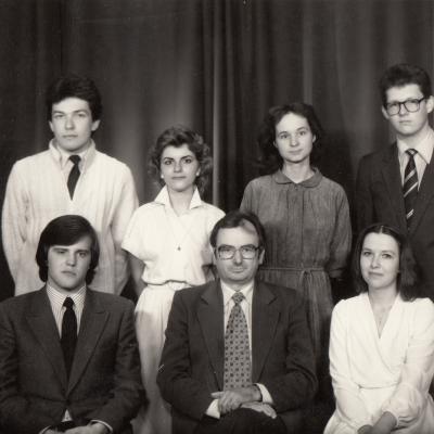 Su studentais 1984 m.