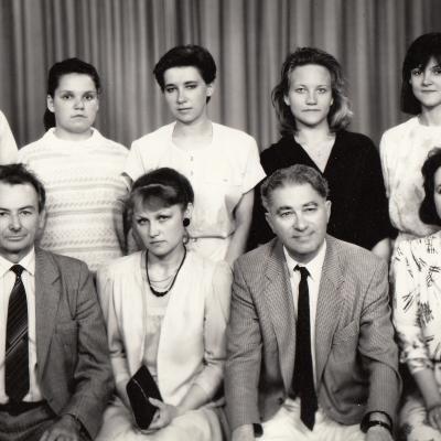 Su studentais ir prof. Hans Schicker 1991 m.