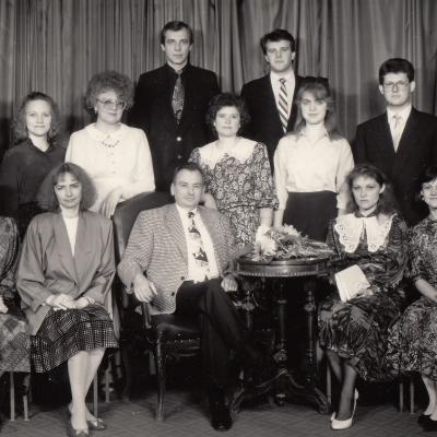 Su studentais 1992 m.