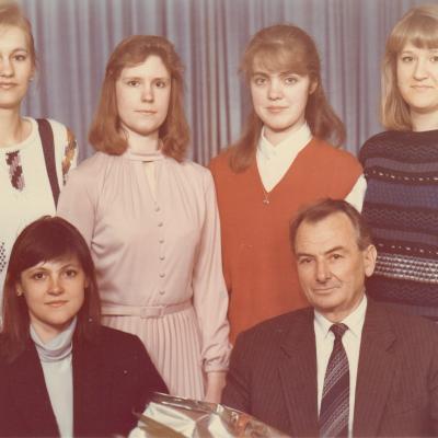 Su studentais 1994 m.