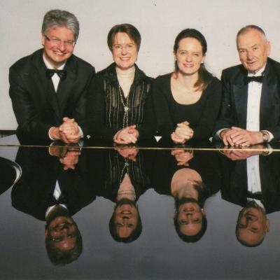 Europos pianistų ansamblis 2010. K. Grybauskas, I. Venckus, V. Rindzevičiūtė-Zbinden, D. Zbinden