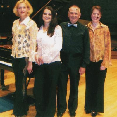 Kęstučio Grybausko pianistų kvartetas 2003-2006 m. sudėtis: G. Galinytė, V. Rindzevičiūtė, L. Ambarcumian