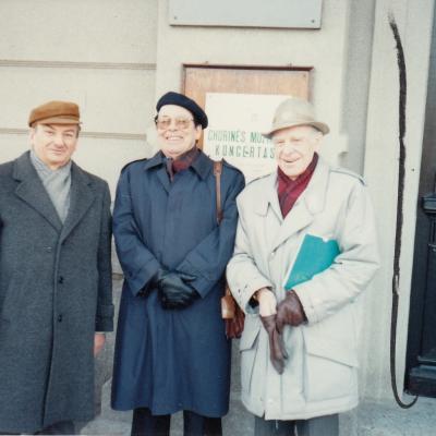 Su Ch. Dobler ir J. Karnavičiumi 1992 m.