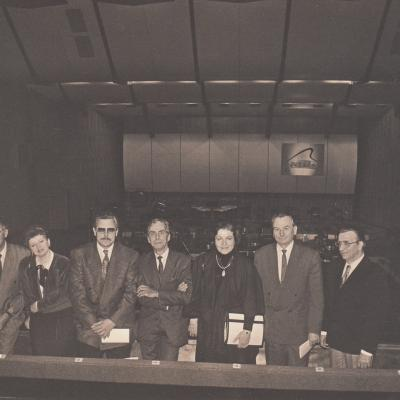 J. Vituolio pianistų konkurso žiuri: M. Boguslavski, I. Graubinia, J. Karlsons, B. Ringeissen, A. Juozapėnaitė, K. Grybauskas, H. Sahling