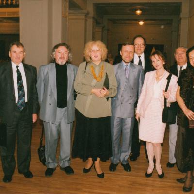II Tarptautinio M. K. Čiurlionio pianistų konkurso žiuri su pirmininku Daniel Pollack (pirmas dešinėje). 1995 m.