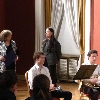 Kalba Nacionalinės M. K. Čiurlionio menų mokyklos Kamerinio ansamblio skyriaus vedėja Indrė Baikštytė