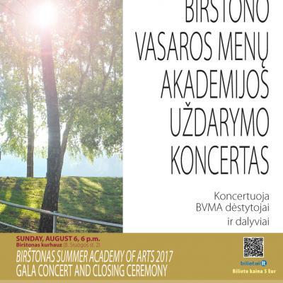 BIRŠTONO VASAROS MENŲ AKADEMIJA 2017