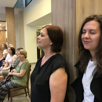 EGLĖS SANATORIJOJE pirmasis koncertas: NAUJI GARSAI. Gabrielė Sližytė ir Raimonda Sližienė