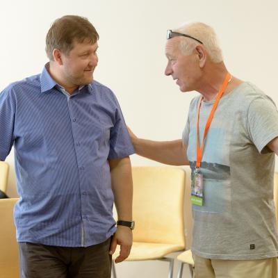 Mažoji BVMA. Profesorius Robertas Beinaris ir Zigmas Kazlauskas