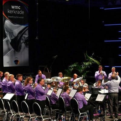 Nuotr. Pasaulio čempionų taurę iškovojo vario dūdų orkestras Brassband Willebroek (dirigentas Frans Violet) iš Belgijos