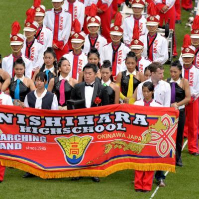 Nuotr. Maršinis pučiamųjų instrumentų orkestras iš Japonijos Nishiharos aukštosios mokyklos