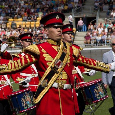 Nuotr. Daugiausia balų maršinių orkestrų aukščiausioje kategorijoje (World Division) gavo Show Marching and Concertband Flora Band iš Rijnsburgo miesto (Nyderlandai)