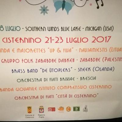 XXI FESTIVAL DELLE BANDE MUSICALI VALLE D'ITRIA koncertų afiša
