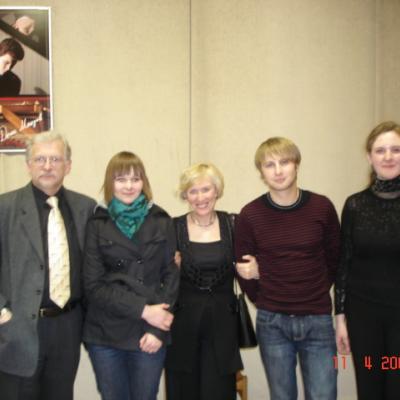 Po R.Armono klasės studentų koncerto. 2008