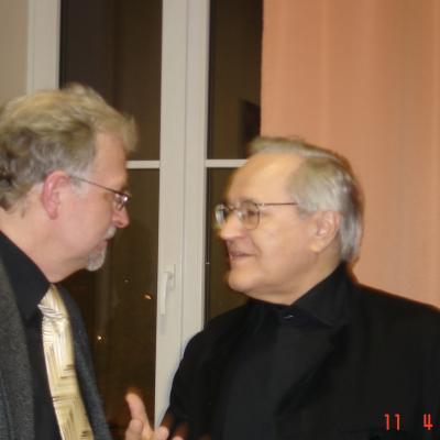 Su Davidu Geringu 2008 Vilniuje. Po R.Armono klasės studentų koncerto.