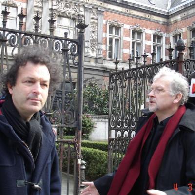 Su violončelininku Jeroenu Reulingu Briuselyje