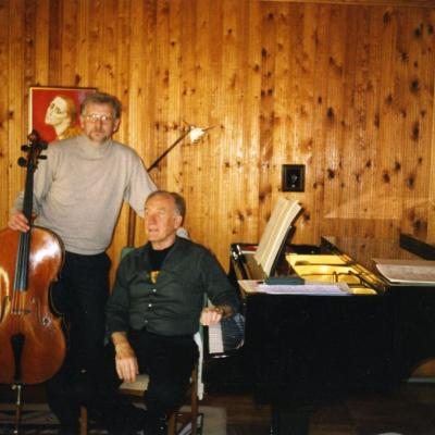Su kompozitoriumi Rodionu Ščedrinu. 2004 m.