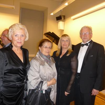 Armonų trio su I.A.Šostakovič po koncerto Vilniuje 2013-09-05