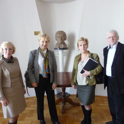Armonas-Uss Duo vizito Vroclavo K.Lipinskio muzikos akademijoje metu. 2014 vasaris. Su kolegemis U.Marciniec-Mazur(kairėje) ir L.Grzanka-Urbaniak.