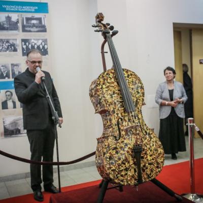 Gintarinė violončelė. D. Petrauskaites parodos atidarymas
