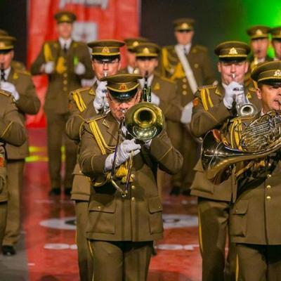 Nuotr. Lietuvos kariuomenės orkestro defile programa