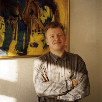 """""""Tikėjimo žodžio"""" raštinėje, 1996 m., Gedos Žyvatkauskaitės nuotr."""