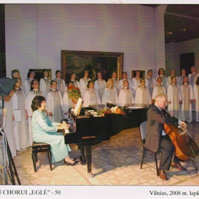 """Su choru """"Eglė"""" 2008 m."""