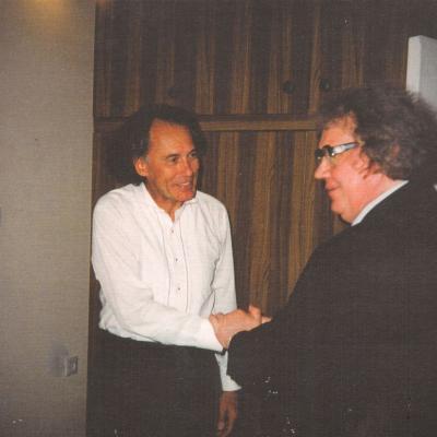 Algis Žiūraitis ir Juozas Domarkas. 1997 m.