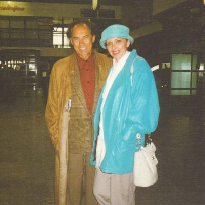 Algis Žiūraitis su dukra Audrone. Paskutinė nuotrauka. 1997 gegužė