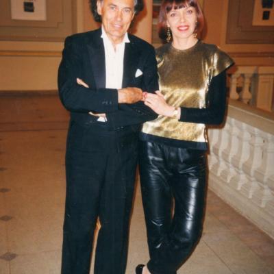 Algis Žiūraitis su dukra Audrone po koncerto LNF 1997-04-30